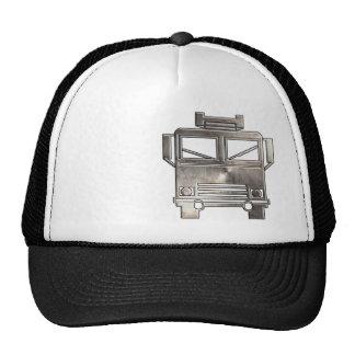 Rugged Fire Truck Trucker Hats