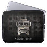 Rugged Fire Truck Laptop Sleeves