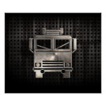 Rugged Fire Truck Poster