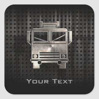 Rugged Fire Truck Square Sticker