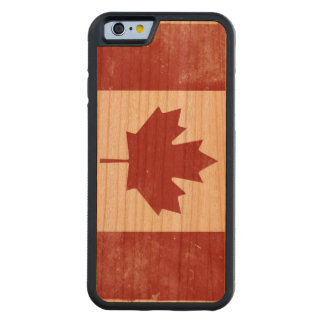 Rugged Flag of Canada Carved Cherry iPhone 6 Bumper Case