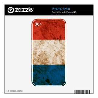 Rugged French Flag Decal For iPhone 4S