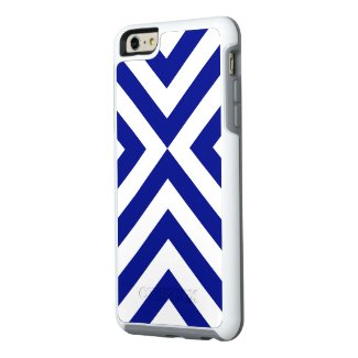 Rugged Geometric Blue and White Chevrons