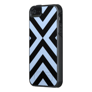 Rugged Geometric Light Blue and Black Chevrons OtterBox iPhone 5/5s/SE Case