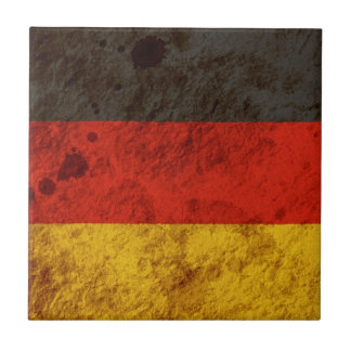 Rugged German Flag Ceramic Tile