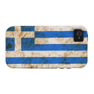 Rugged Greek Flag iPhone 4 Case
