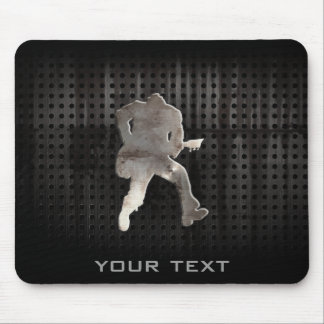 Rugged Guitarist Mouse Pad