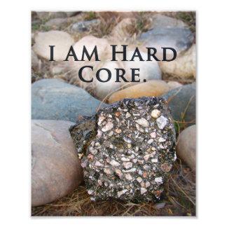 Rugged Hard Core Inspirational Rock Art Print Photo Print