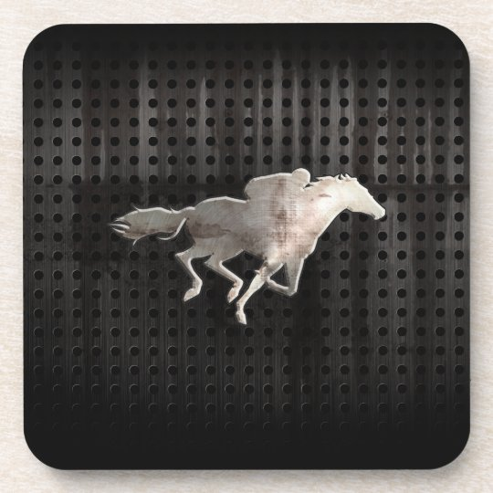 Rugged Horse Racing Beverage Coaster