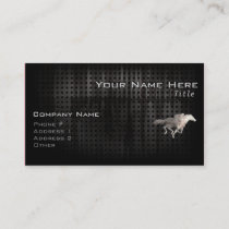 Rugged Horse Racing Business Card