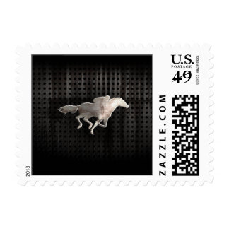 Rugged Horse Racing Postage