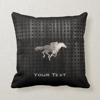 Rugged Horse Racing Throw Pillow