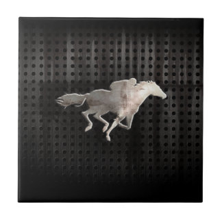 Rugged Horse Racing Ceramic Tile