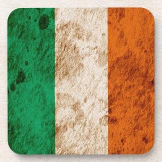 Rugged Irish Flag Beverage Coasters