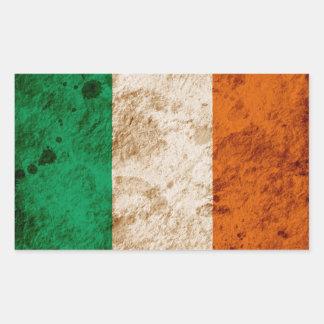 Rugged Irish Flag Rectangular Sticker