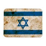 Rugged Israeli Flag Rectangular Photo Magnet