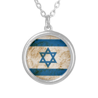 Rugged Israeli Flag Silver Plated Necklace
