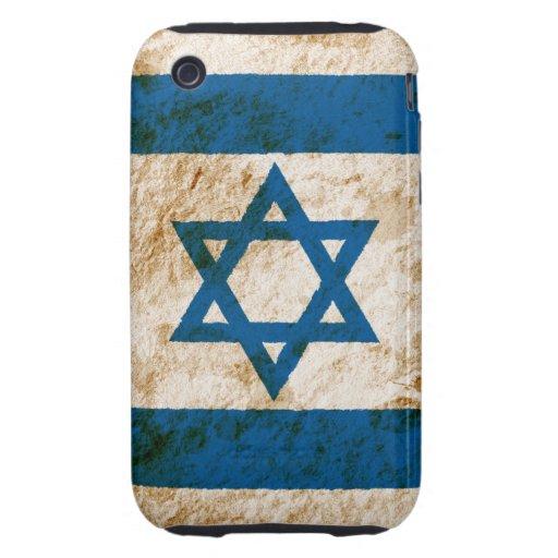 Rugged Israeli Flag Tough iPhone 3 Case