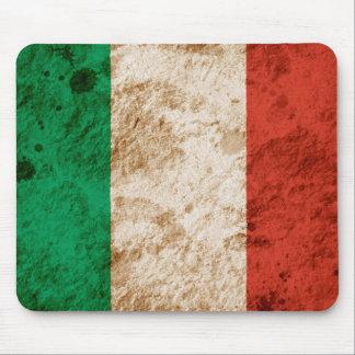 Rugged Italian Flag Mouse Pad