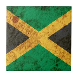 Rugged Jamaican Flag Ceramic Tile
