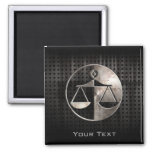 Rugged Justice Scales 2 Inch Square Magnet
