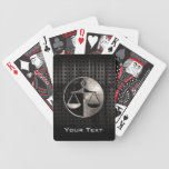 Rugged Justice Scales Bicycle Playing Cards