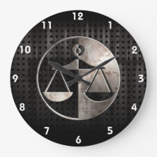 Rugged Justice Scales Clocks