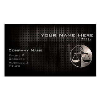 Rugged Justice Scales Double-Sided Standard Business Cards (Pack Of 100)