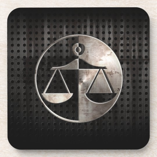 Rugged Justice Scales Drink Coaster