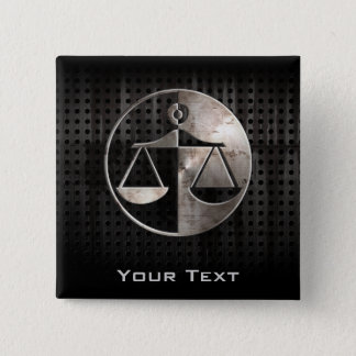 Rugged Justice Scales Pinback Button