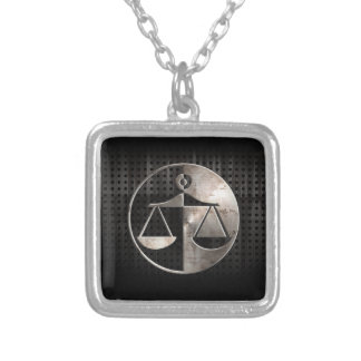 Rugged Justice Scales Silver Plated Necklace