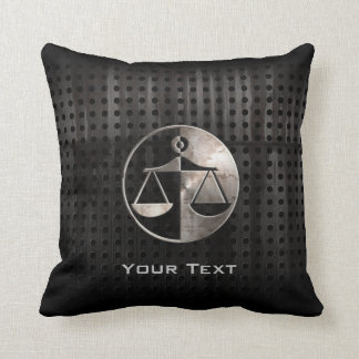 Rugged Justice Scales Throw Pillow