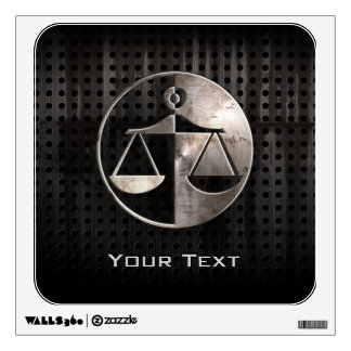 Rugged Justice Scales Wall Sticker