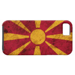 Rugged Macedonian Flag Case For The iPhone 5