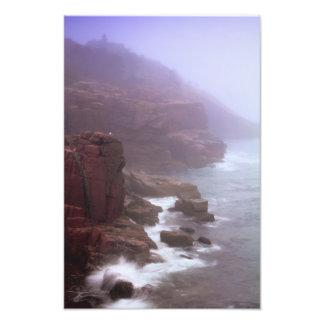 Rugged Maine Seacoast in the mist Photo Print