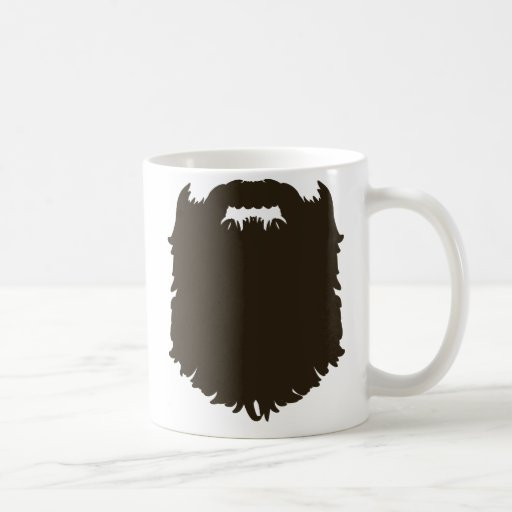 Rugged manly beard classic white coffee mug