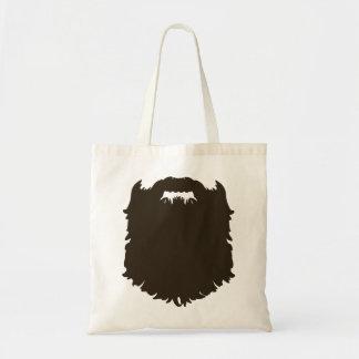 Rugged manly beard tote bag