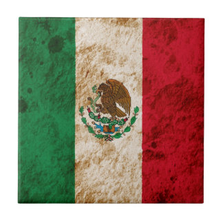 Rugged Mexican Flag Tile