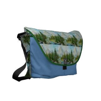 Rugged Mountain Collage Messenger Bag