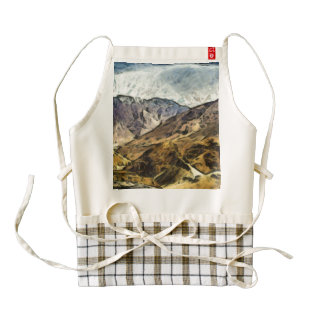 Rugged mountains of North India Zazzle HEART Apron
