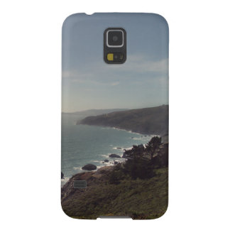 Rugged Mountains with Rocky Ocean Beach Shoreline Case For Galaxy S5