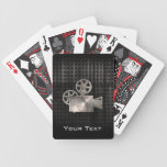 Rugged Movie Camera Bicycle Playing Cards