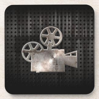 Rugged Movie Camera Drink Coasters