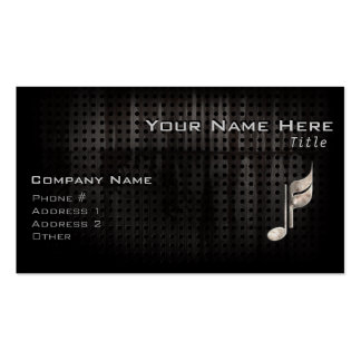Rugged Music Note Double-Sided Standard Business Cards (Pack Of 100)