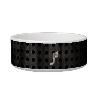 Rugged Music Note Pet Food Bowls