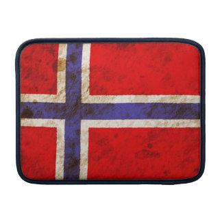 Rugged Norwegian Flag MacBook Air Sleeve