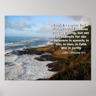 Rugged Ocean Coast Called by God Print