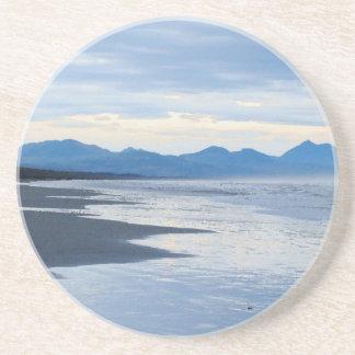 Rugged Oregon Coastal Beach Ocean Sea Sandstone Coaster