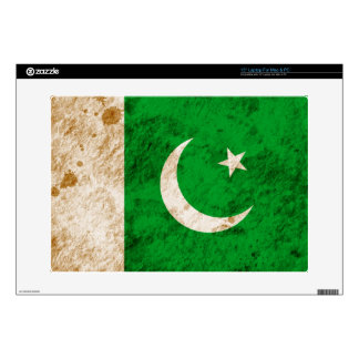 Rugged Pakistani Flag Laptop Decal