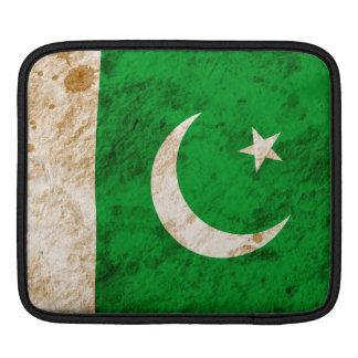 Rugged Pakistani Flag Sleeve For iPads